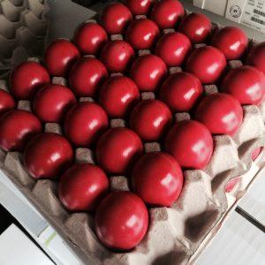 Rot - auch bei Ostereiern die Farbe der Wahl!